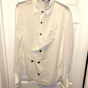 Dual Layer Tuxedo Vest Style Dress Shirt